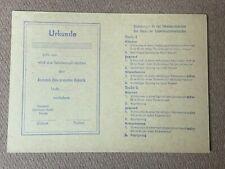 Urkunde Sporturkunde / Schwimmen / Schwimmstufen DTSB 1960 VLV Osterwieck Blanko