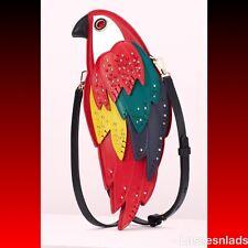 KATE SPADE RIO Parrot Crossbody Bag Italian Leather Purse +Dust Bag PXRUA370 NWT