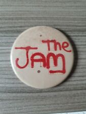 More details for vintage 56mm 1970s/80s the jam badge tin mods punk music badge the jam badge