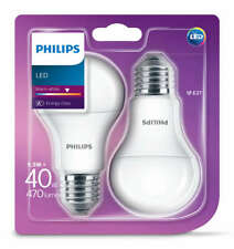 2 Pack Philips LED Frosted E27 Edison Screw 40W Warm WhiteLight Bulb Lamp 470Lm