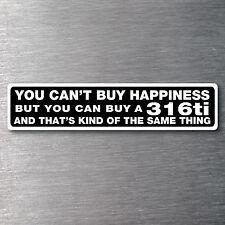 Buy a 316ti sticker Premium 10 yr vinyl water/fade proof BMW badge parts