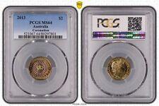 2013 MS64 Australian Two Dollar $2 Corronation PCGS GRADED Ch UNC