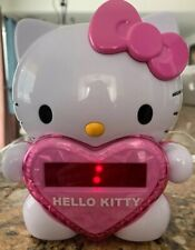 HELLO KITTY AM/FM Projection Alarm Clock Radio Digital Time Collectible Pink