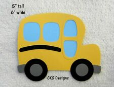 Die Cut School Bus LARGE Handmade Scrapbook Page Paper Piecing CKS Designs