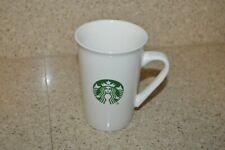 Starbucks 16 oz Tall White Coffee/Tea Mug with Green Mermaid Logo Cup 2019