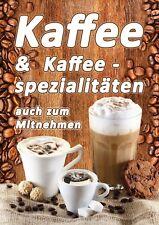Plakat Softeis Eis wetterfest Café Kiosk Kundenstopper Kaffee DINA1 Gelato PVC