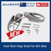 Heavy Duty Steel Footrest Foot Pegs Dirt Pit Trail Bike Strong  Bigger Platform