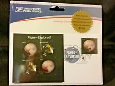 Pluto Exploredw/ 2 souvenir Sheets & 2 Digital Keepsakes USPS #586610