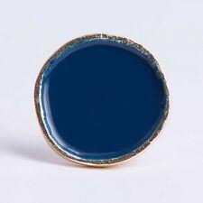 Grande azul marino y oro redonda de esmalte Colgador De Pared Perchero-Toalla Bombay Duck