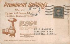 SOUTH FERRY BUILDING NEW YORK DETROIT PACKLESS RADIATOR VALVES AD POSTCARD 1916