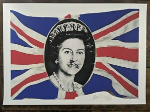 Jamie Reid God Save The Queen GSTQ Signed Limited edition fine art print 98/300