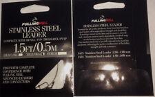 Fulling Mill Stainless Steel Leader(1.5 FT/0.5 M) Pack of four leaders. 20lb/9kg