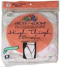 NEW VTG 90s FRUIT OF THE LOOM High Thigh Granny Panties Size 5 Polka Dot 3 PAIR