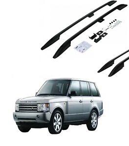 FIT FOR Range Rover HSE Vouge Roof Rails Luggage Port Black Side Rails 2002-2012