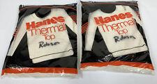 Vintage 80's Mens Xl 46-48 Hanes Thermal Top Underwear 50/50 Deadstock