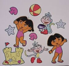 Dora & Boots @ The Beach Fabric Iron On Appliques Set of 10