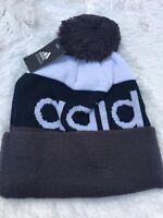 Adidas Beanie Hat Cap Black Pom Pom NEW WITH TAGS