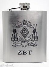 Zeta Beta Tau, ZBT, Laser Engraved Crest 7 Oz.Stainless Steel Beverage Container