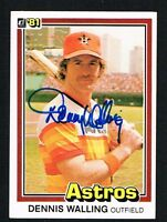 Dennis Walling #144 signed autograph auto 1981 Donruss Baseball Trading Card