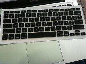 Protection Silicone AZERTY pour Clavier US Noir Apple MacBook Pro 13''15''17''