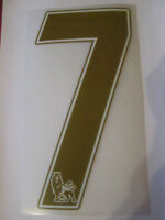 no 7 Premier League EPL Football Shirt Name Set Rear Number Gold Sporting ID