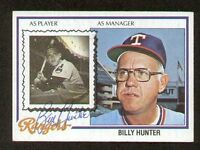 Billy Hunter #548 signed autograph auto 1978 Topps Baseball Trading Card