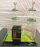 Crystal Glass Mecca KAABA Islamic Home Decoration Ramadan Eid - Gift Boxed