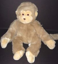Vintage 1990 Tan Brown Monkey Moonbeam Toy Plush Stuffed Animal Lord & Taylor