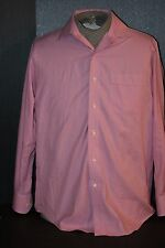 """Tommy Bahama Red & White 100% Cotton Dress Shirt in Men's size (15-1/2"""" / 32-33)"""