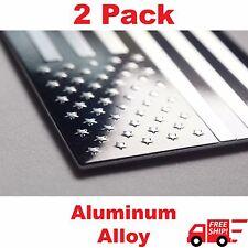 "(2 Pack) Aluminum US American Flag Sticker Decal | Auto Car Emblem | 3.15""x1.75"""