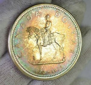 1973 Canada Proof Silver Dollar With Awesome Toned Colors - #25