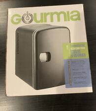 Gourmia GMF600 Portable 6 Can Mini Cooler and Warmer Fridge (Mini Fridge)