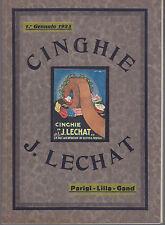 catalogo pubblicitario italiano cinghie Lechat 1925 Parigi Lilla Gand grafica+++