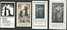 4 Estampas antiguas de San Francisco de Asis andachtsbild santino holy card