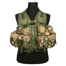 Militaire Tactical Assault Vest 9 Zakken Webbing Carrier Vegetato Woodland Camo
