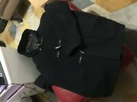 Original Montgomery Duffle Coat Horn Toggles Navy XL 44-46 Excellent Condition