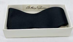 Chiarenza - Anthony Squires - Classic Black Bow Tie - Pure Silk - New (NOS)