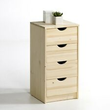 BNIB La Redoute Crawley solid pine 4-drawer chest of drawers, Untreated RRP £125