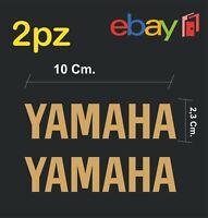 2x adesivi YAMAHA per moto e scooter - colore oro - racing moto