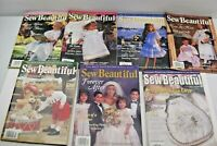 Sew Beautiful Lot of (7) Magazines 1998 and 1999