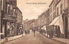 BALLYMENA, COUNTY ANTRIM, N. IRELAND, CHURCH STREET, PEOPLE, SHOPS, c. 1904-14
