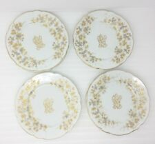 "(8) Carl Knoll Carlsbad 8-2/8"" Appetizer Dessert Salad Plates Gold Trim Monogram"
