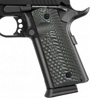 Guuun 1911 Grips G10 Full Size Commander Custom Grip Ambi Safety Cut OPS Texture