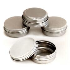 10 x 30ml screw lid Aluminium Cosmetic Pots Lip Balm Jars candle Tin Empty jja10