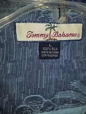 TOMMY BAHAMA SHORT SLEEVE SHIRT MENS SIZE LARGE BLUE PALM TREE PRINT