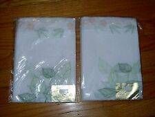 "NEW  IN PACKAGE- 2 - EMBROIDERED CURTAIN PANELS  - 60"" X 63"""