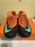 Nike KD VI Texas Longhorn Black Green Orange Size 9 (599424-002) KD 6 Durant