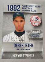 (5) DEREK JETER 1992 PLATINUM FIRST #1 DRAFT PICK ROOKIE CARD NEW YORK YANKEES!