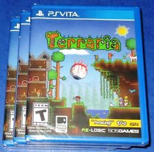 Lot of 3 Terraria Playstation Vita *New! *Factory Sealed! *Free Shipping!