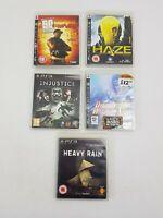 Injustice Haze Heavy Rain Dynasty PS3 Sony Playstation 3 Computer Game Bundle